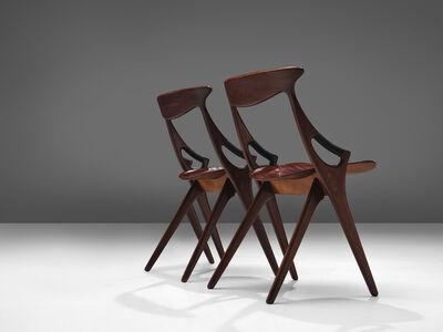 Arne Hovmand Olsen, 'Arne Hovmand-Olsen Mogens Kold Pair of Dining Chairs in Teak', 1959