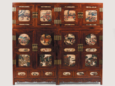 Unknown Designer, 'Pair of Huanghuali Wardrobes', 17th Century with 19th Century Alterations