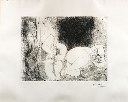 "Pablo Picasso, '""Las Chicas descansan con Degas, Pensativas""', 1946"