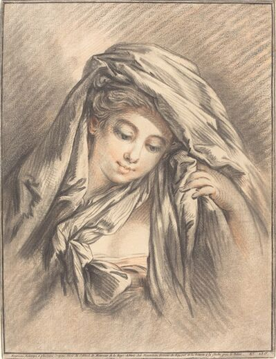 Gilles Demarteau, the Elder after François Boucher, 'Young Woman with Her Head Covered', 1767