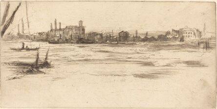 James Abbott McNeill Whistler, 'The Troubled Thames', ca. 1875