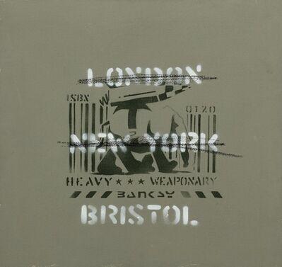 Banksy, 'Heavy Weaponry (London, New York, Bristol) (Canvas)', 2000