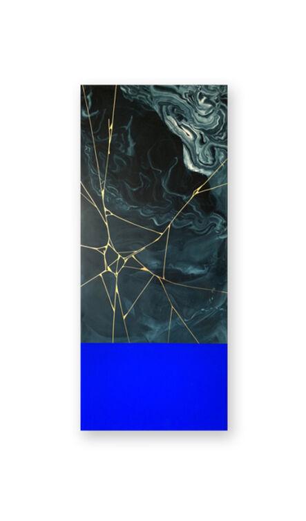 SupaKitch, 'Gold Crack Blue', 2018