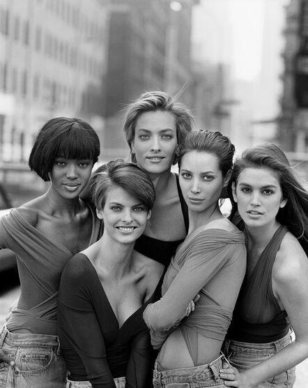 Peter Lindbergh, 'Naomi Campbell, Linda Evangelista, Tatiana Patitz, Christy Turlington, Cindy Crawford, New York', 1990