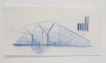 Tadao Ando, 'Fort Worth Museum, Exterior Perspective, Fort Worth, Texas', 2014