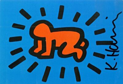 Keith Haring, 'Hand Signed Radiant Baby Card (from the Estate of UACC President Cordelia Platt)', 1987