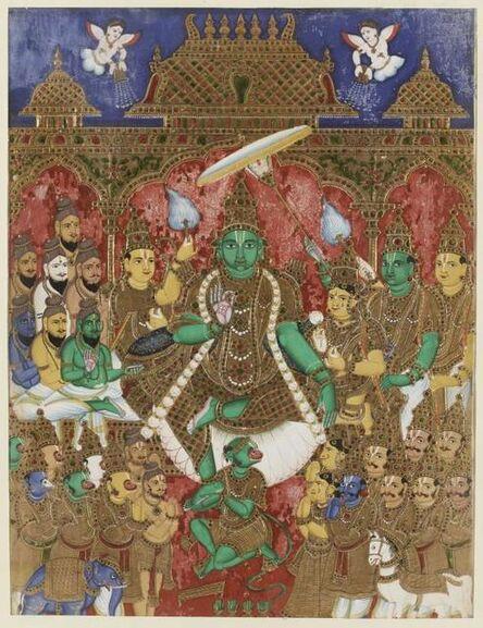 'Coronation of Rama, Scenes from Ramayana', 18th century