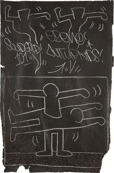 Keith Haring, 'Subway Drawing', 1982-1983