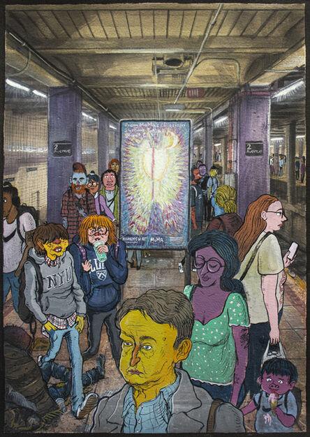 Stipan Tadić, 'People in the Subway', 2021