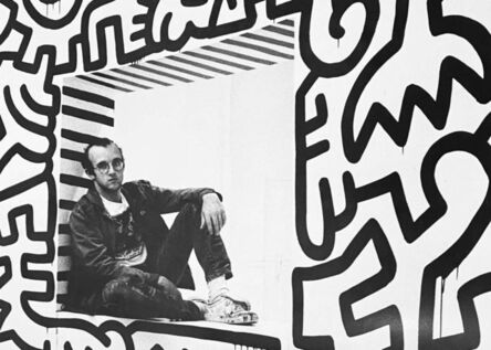 Keith Haring, 'Keith Haring Pop Shop poster (vintage Keith Haring posters)', 1989