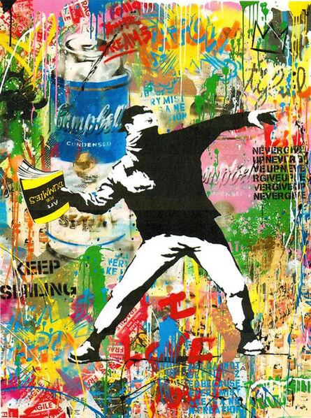Mr. Brainwash, 'Banksy Thrower (P102290)', 2018