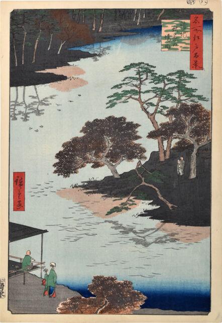 Utagawa Hiroshige (Andō Hiroshige), 'One Hundred Famous Views of Edo: Inside Akiba Shrine, Ukeji', 1857
