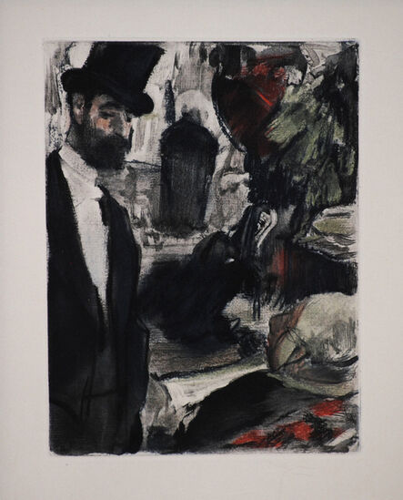 Edgar Degas, 'Ludovic Halevey Finds Madame Cardinal in the Dressing Room', 1938-1939