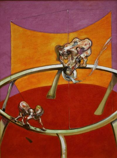 Francis Bacon, 'From Muybridge 'The human Figure in Motion: Woman Emptying a Bowl of Water/Paralytic Child Walking on All Fours'', 1965