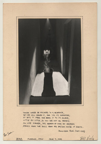 "Bill Viola, '""Zona,"" Florence, Italy, June 9, 1975', 1975"