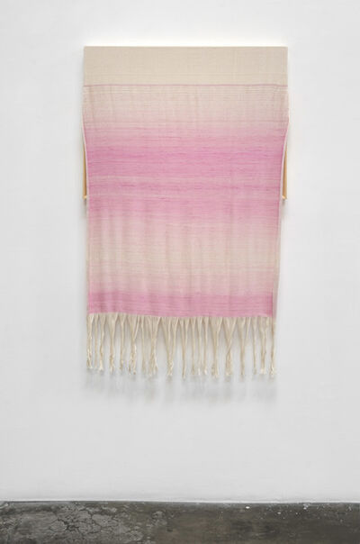 Frances Trombly, 'Canvas with Pink Silk', 2015