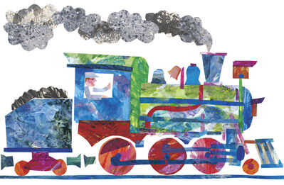 """Eric Carle, ' Illustration from """"1, 2, 3 to the Zoo', 1986"""