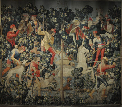 'The Unicorn at Bay, from The Hunt of the Unicorn tapestries', ca. 1495-1505