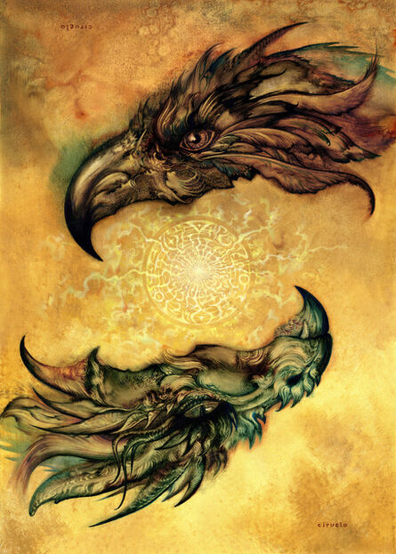 Ciruelo Cabral, 'Eagle and Dragon', 2007