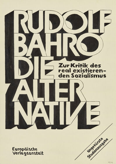 Fernando Bryce, 'Die Alternative, Slow Future'
