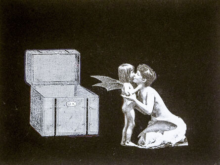 Stacey Steers, 'Phantom Canyon (mother kissing batwing child)'