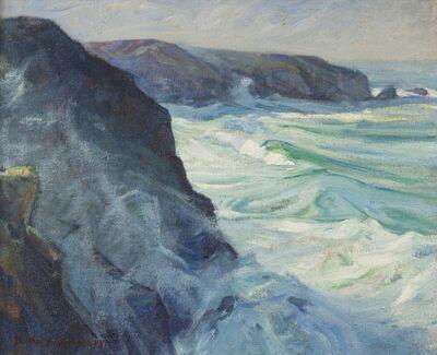 Charles Herbert Woodbury, 'Cornwall Cliffs'