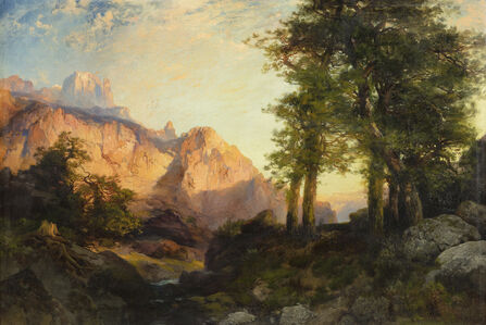 Thomas Moran, 'The Great White Throne, Zion', 1901