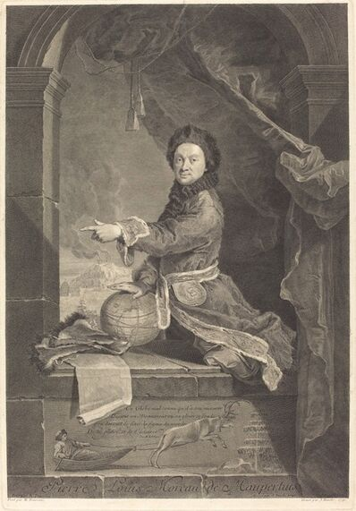 Jean Daullé after Robert Levrac-Tournieres, 'Pierre Louis Moreau de Maupertuis', 1741