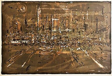 Wayne Thiebaud, 'Manhattan', 1957