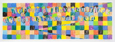 Richard Tuttle, 'Untitled (Poetry Project Print)', 1991