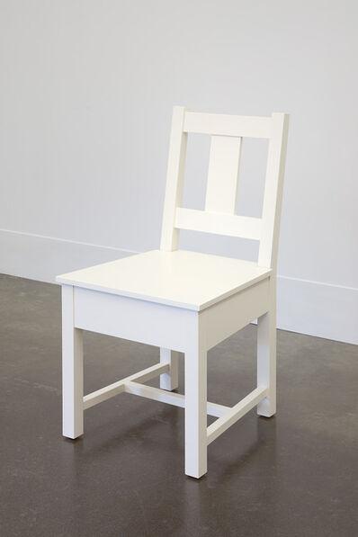 Roy McMakin, 'White Slatback Chair', 1998