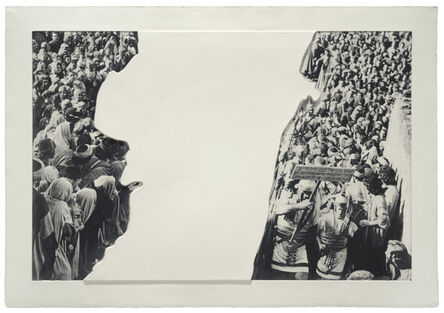 John Baldessari, 'Crowds with Shape of Reason Missing: Example 3', 2012