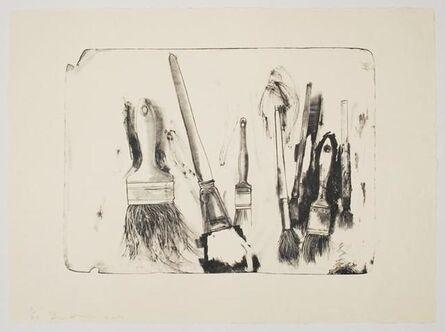Jim Dine, 'Brushes Drawn on Stones #2', 2010