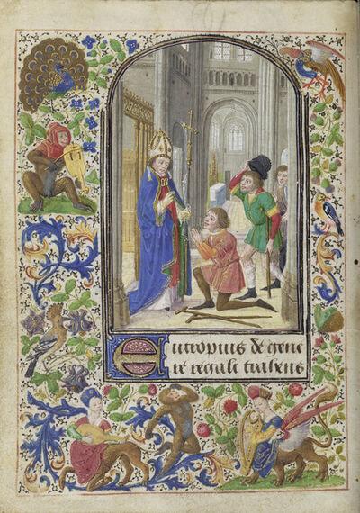 Lievan van Lathem, 'Saint Eutrope Healing a Cripple', 1469