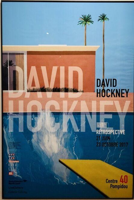 David Hockney, 'A Bigger Splash - Large Pompidou Exhibition Poster.', 2017