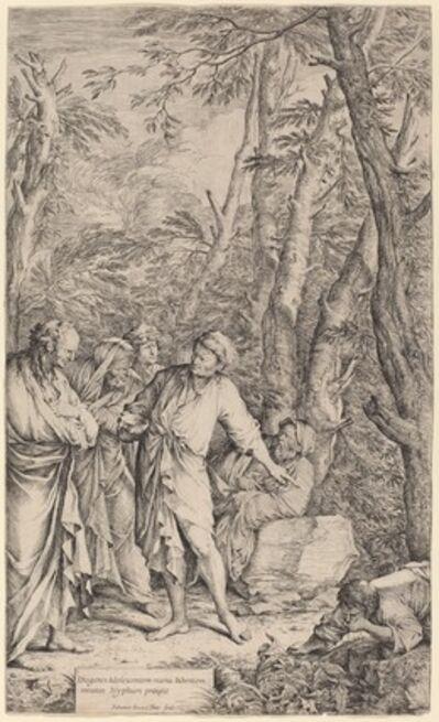 Salvator Rosa, 'Diogenes Casting away his Bowl', 1662