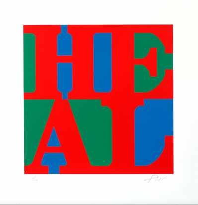Robert Indiana, 'HEAL (red, green, blue variation)', 2015