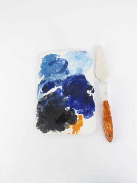 Rose Eken, 'Sausage papertray palette (blue)', 2015