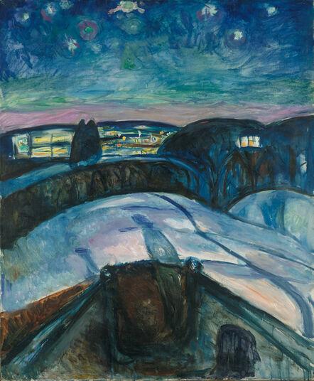 Edvard Munch, 'Starry Night', 1922