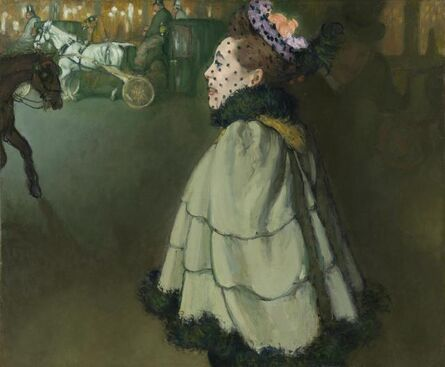 Louis Anquetin, 'Woman on the Champs-Élysées, at Night', 1891