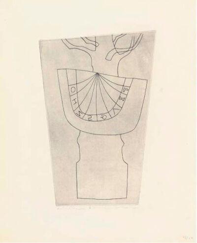 Ben Nicholson, 'Turkish sundial and tree', 1967