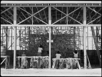 Dorothea Lange, 'Camouflage Nets, Manzanar ', 1942