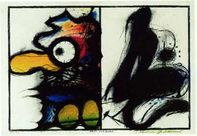 Arnulf Rainer, 'Grün und Blau (Wahnhall I)', 1967