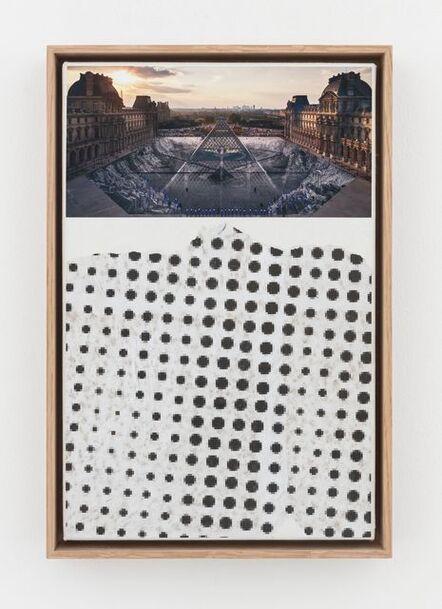JR, 'JR au Louvre et le Secret de la Grande Pyramide, Relique #22 © Pyramide, architecte I. M. Pei, musée du Louvre, Paris, France', 2019