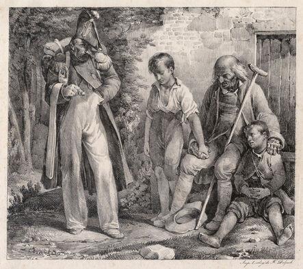 Nicolas-Toussaint Charlet, 'L'Aumône', 1819