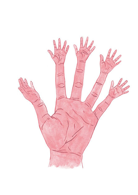 Stasele Jakunskaite, 'Fingers with Hands', 2017