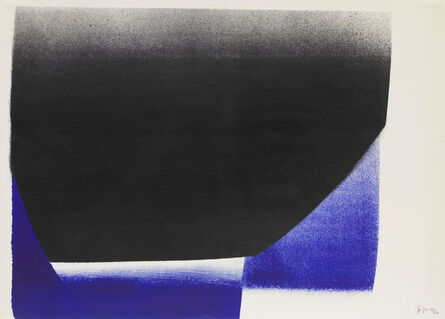 Rupprecht Geiger, 'SCHWARZ MIT BLAU/BLAU - SCHWARZ', 1958