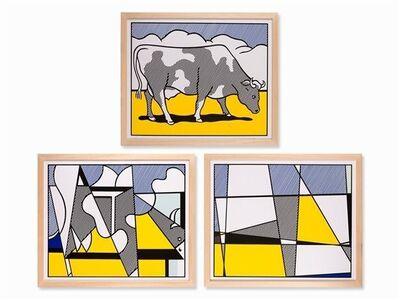 Roy Lichtenstein, 'Cow Triptych', 1982