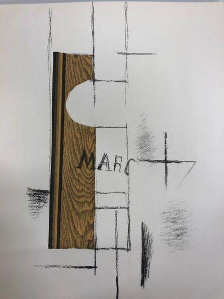 Georges Braque, 'La bouteille de Marc', 1956