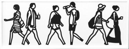 Julian Opie, 'WALKING IN MELBOURNE 5', 2018